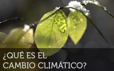 Qué es el cambio climático