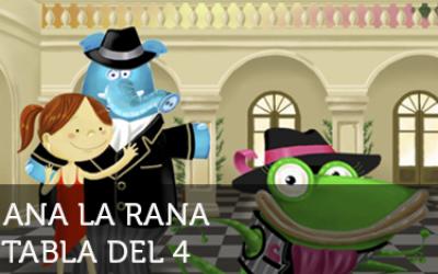 Ana la rana: Tabla del 4
